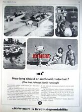 1964 'JOHNSON' Outboard Motors Range Advert - Vintage Photo Print AD