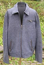 Mens 7 For All Mankind Denim Jacket Coat Sz XL Jean Quilted Interior Metal Zip