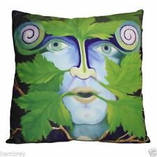 Green Man Copricuscino Fair Trade etnica new age wicca pagano Cuscino Home