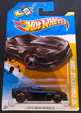 2012 Hot Wheels - '12 Corvette Z06 (Black with Red Wheels) - V5311-09A0M