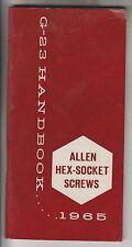 1965 G-23 HANDBOOK - ALLEN HEX-SOCKET SCREWS
