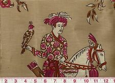 Asian Insp Linen Clarence House Hill Brown Upholstery Fabric Babur CL Rose Terra