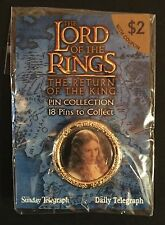 LORD OF THE RINGS - GALADRIEL - DAILY TELEGRAPH - SEALED - PIN - BADGE - PROMO