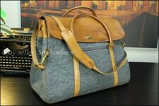 VTG Hartmann American Belting Leather Tweed Carryall Duffle Travel Bag Mens  Uni