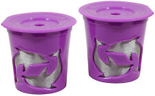 NEW Keurig® 2.0 Coffee Filter Basket Reusable K-Cups Pack 2 Refillable Purple