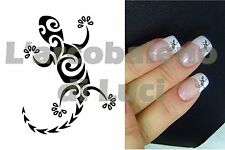 20 AUTOCOLLANTS POUR ONGLES GECKO TRIBAL NAIL ART NAILS STICKERS MANUCURE