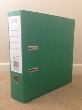 10 GREEN STRONG LEVER ARCH FILES / FOLDERS  FOOLSCAP A4 80mm NEW - FREE 24H HOUR