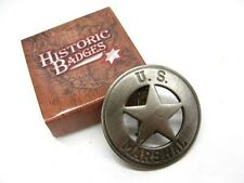 U.S. US Marshal Old West Style ROUND STAR Badge Replica Reproduction New! MI3019