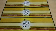 X3 Carling British cider bar runners free p&p home pub/bar/mancave