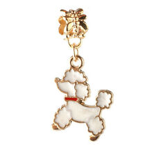 18K gilded dog LAMPWORK fit European Charm Bracelet pendant Chain DIY CC118