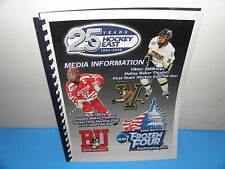 NCAA 2009 Hockey East 25 Years BU & Vermont Mens Frozen Four Media Information
