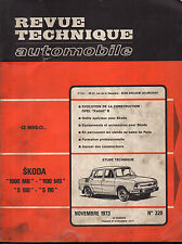 RTA revue technique automobile N° 329 SKODA 1000 MB 1100 MB S100 S 110 100