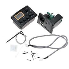4 Band LED Chromatic Tuner Piezo Pickup EQ Equalizer for Acoustic Guitar