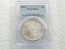 1881-S United States Morgan $1 One Dollar Silver Coin PCGS MS63 San Francisco