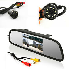 "4.3""LCD Car Rear View Mirror Monitor &8LED Night Vision Reverse Backup HD Camera"