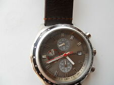 Fossil men's chronograph brown leather band Analog watch.Ch-2787