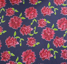 Indian Floral Printed Blue Dressmaking Cotton Crafting Fabric By The Yard