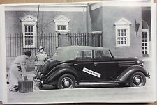 """12 By 18"""" Black & White PICTURE 1936 Ford Convertible sedan side view"""