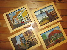 "Caribbean art by Cajiga [early 80's work] / 8"" x 10"" vintage print / Puerto Rico"