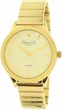 Kenneth Cole Women's New York 10025948 Gold Stainless-Steel Quartz Watch