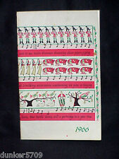 HOLIDAY GREETING 1966 COOK BOOKLET MICHIGAN CONSOLIDATED GAS COMPANY