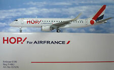 Herpa Wings 1:200 embraer e190 hop! for airfrance F-hbli 557276
