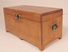 Dollhouse Furniture Chest Miniature Wood  Blanket Chest Hope Chest