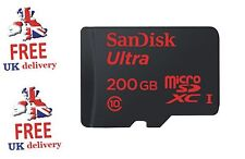 Genuine SanDisk 200GB Ultra 90MB/s Class 10 UHS-I Micro SD SDXC Memory Card