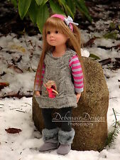 Hand-Knitted Tunic Dress only for Gotz Happy Kidz dolls by Debonair Designs