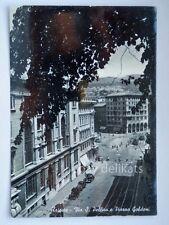 TRIESTE TRAM via Silvio Pellico Goldoni vecchia cartolina