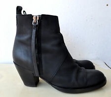 ACNE Studios Black Leather Short Ankle Pistol Boots Sz 38 Italy Rare! SOLD OUT!