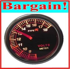 NEW UNIVERSAL 2 INCH 52MM VOLTMETER VOLT METER TACHO CAR GAUGE for BATTERY POWER