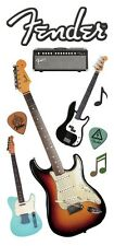 Scrapbooking Stickers Paper House Puffy Fender Guitars Speaker Title Music Notes
