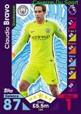 164 Claudio BRAVO CHILE MANCHESTER CITY.FC CARDS PREMIER LEAGUE 2017  TOPPS