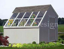 10 x 10 Greenhouse Backyard Garden Shed Plans #41010