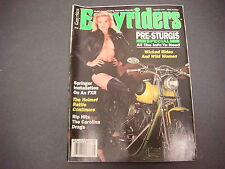 Easyriders Magazine,August 1991,Pre-Sturgis ,Wicked Rides Wild Woman,Helmets
