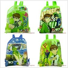 4pcs Ben10 drawstring backpack school bag Kid Christmas party gifts