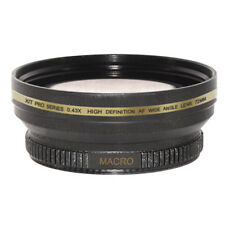 72mm 0.43x Wide Angle Lens for JVC GY-HD110U GZ-HD7 HD3 HM1 MG555 GL-V0746U camc