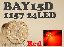 2x BAY15D 1157 24 LED 12V RED Car Brake Turn Stop Light Lamp Bulb  Globes Bulbs