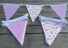Bunting Pink Candy Stripe Floral Shabby Chic Wedding Celebration Party 9ft
