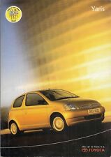 Toyota Yaris Hatchback 2000 UK Market Sales Brochure S GS GLS SR CDX