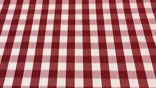 "WAVERLY PICNIC RED WHITE CHECKER #53242 MULTIUSE FABRIC BY THE YARD 62"" WIDE"