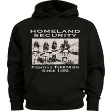 Big and tall sweatshirt for men Homeland Security Indians mens hoodie tall