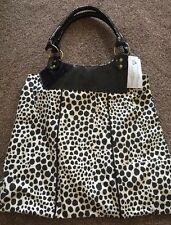 Black Cream Leopard Print Large Shoulder Bag Primark