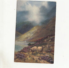 BR63035 in the highlands  ship mouton painting postcard scotland