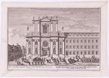 """J.A. Corvinus (1683-1738) """"Vienna View"""", Engraving after Salomon Kleiner, 1730s"""