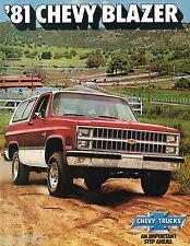 1981 Chevy BLAZER Brochure/Catalog with Color Chart: C10,K10,4WD,Silverado,