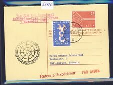 51416) KLM Polar FF Amsterdam - Tokio 1.11.58, Schweiz reply card via Brüssel