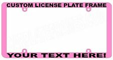 PINK  ez view THIN STYLE CUSTOM WORDING TEXT PERSONALIZED License Plate Frame