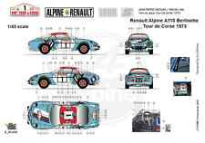 [FFSMC Productions] Decals 1/18 Berlinette Alpine A110 1800 Tour de Corse 1973